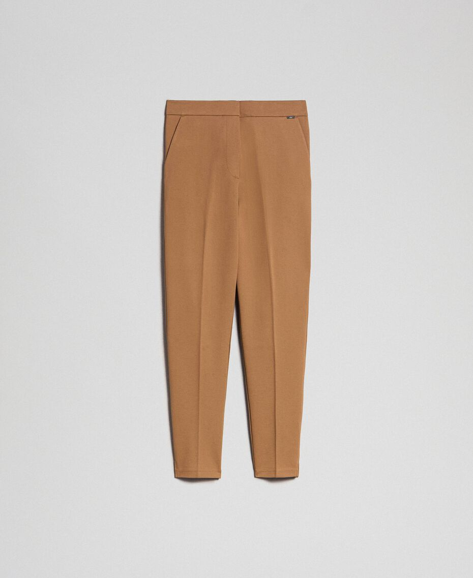 """Cigarette trousers with pockets """"Sequoia"""" Beige Woman 192ST2134-0S"""