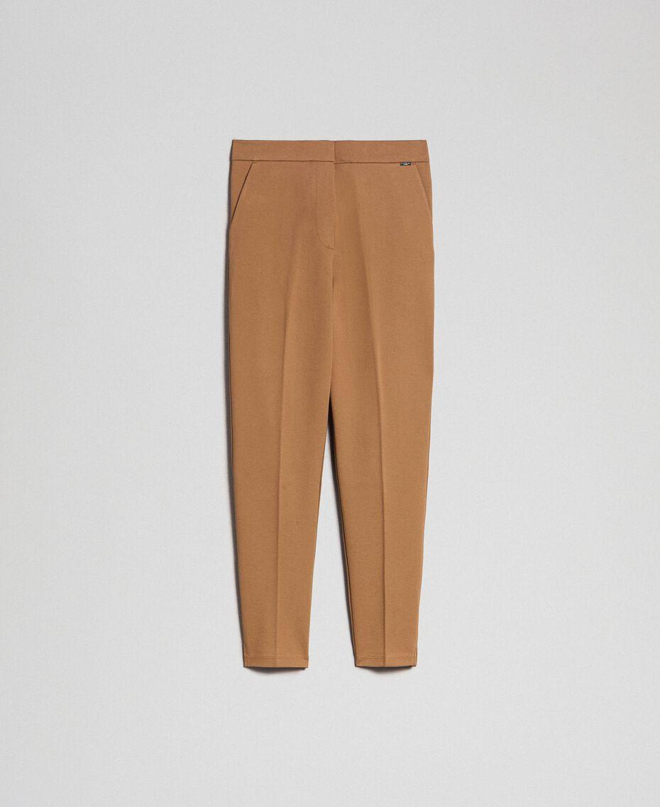 Pantalon cigarette avec poches Beige «Séquoia» Femme 192ST2134-0S