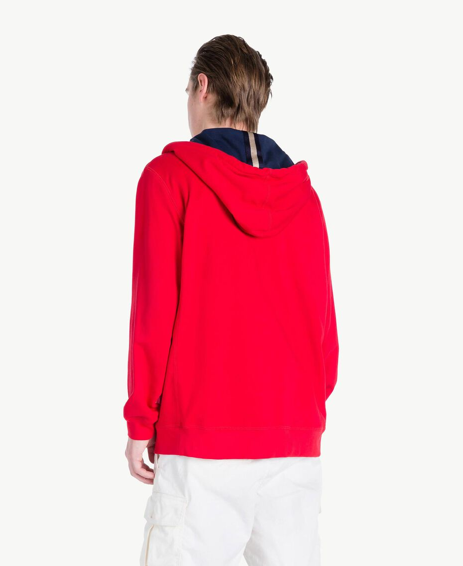 Sweat-shirt rayures Rouge « Géranium » Homme US821Q-03