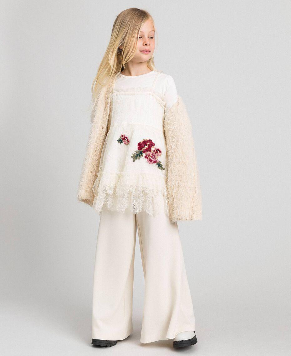Pantalon palazzo avec ceinture Avoine Enfant 192GJ2451-0T