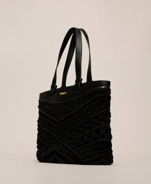 Borsa shopper in crochet Bianco Antique White Donna 201TO8130-01