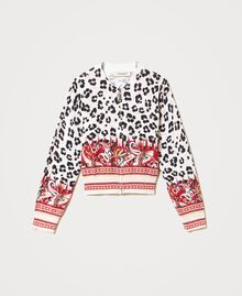 Bomber jacket cardigan with animal print Leopard Spot & Paisley Print Child 211GJ3542-0S