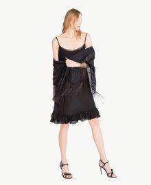 Kleid aus Seide Schwarz Frau TS82UA-05