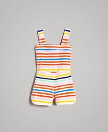 Multicolour striped jumpsuit Multicolour Striping Child 191GB2221-0S