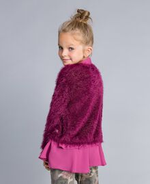 "Cardigan mit Schlingenstich ""Sweet Grape""-Violett Kind GA83D3-04"