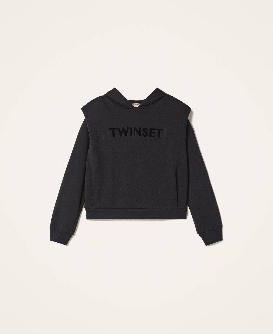 Sweat avec logo brodé assorti Noir Femme 202TT2T57-0S