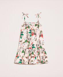 """Kleid aus Popeline mit Print Print """"Savannen""""-Rosa Kind 201GB2333-01"""