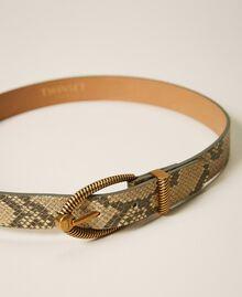 Gürtel aus Leder mit exotischer Prägung Pythonprägung Pastel Skin Frau 202TO501A-03