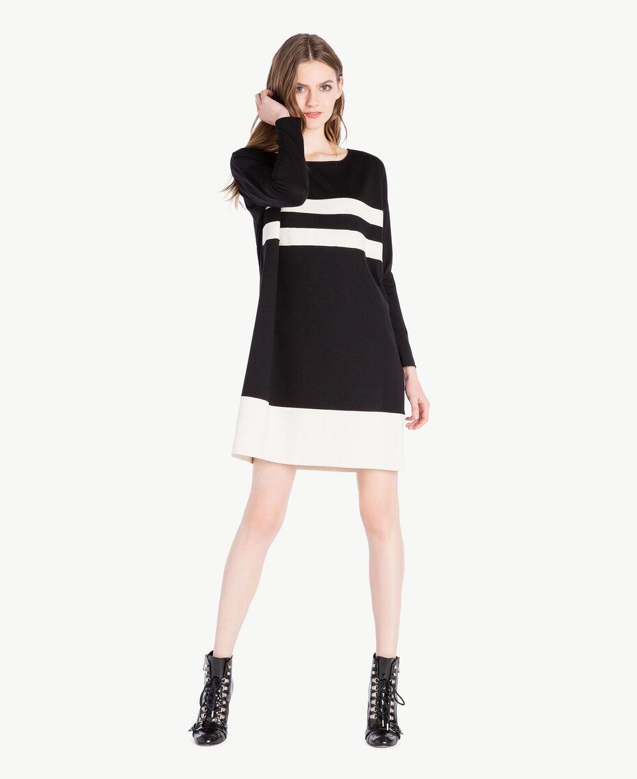 Vestido bicolor Negro Mujer PS828S-01