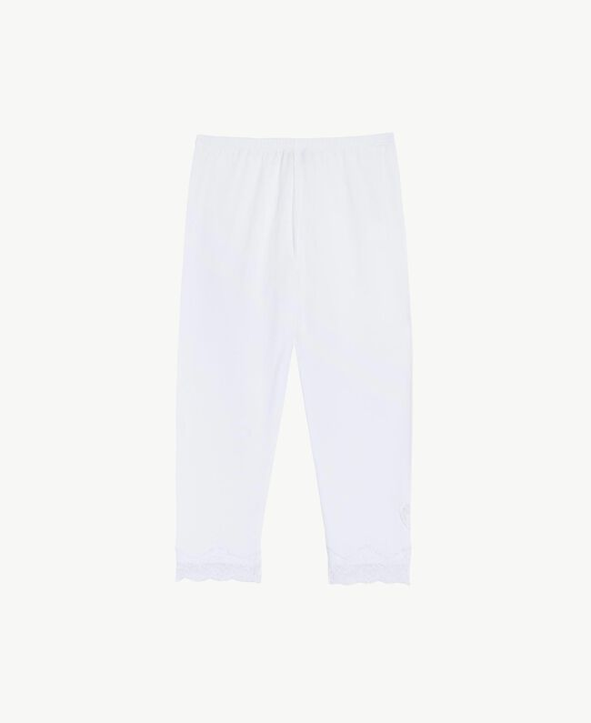 "Legging jersey Blanc ""Papers"" Enfant GS82BB-01"