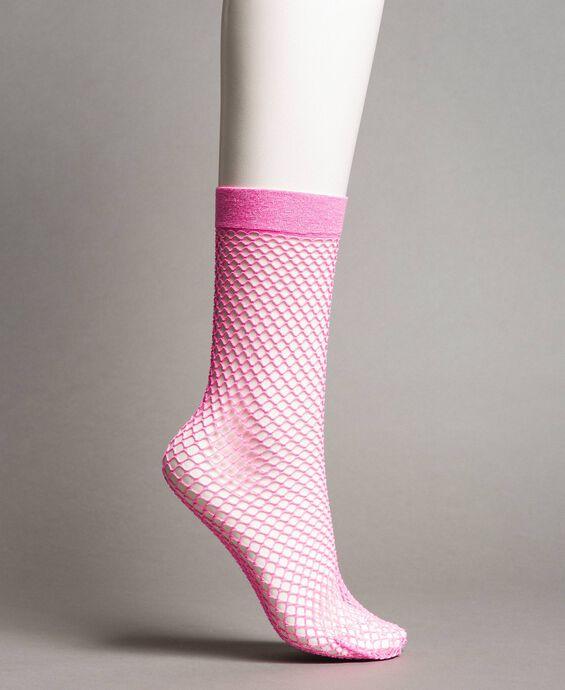 Lurex fishnet socks