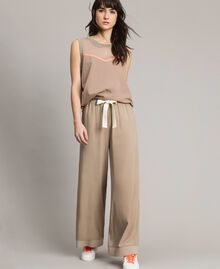 "Viscose palazzo trousers ""Grey Dust"" Woman 191LL35SS-01"