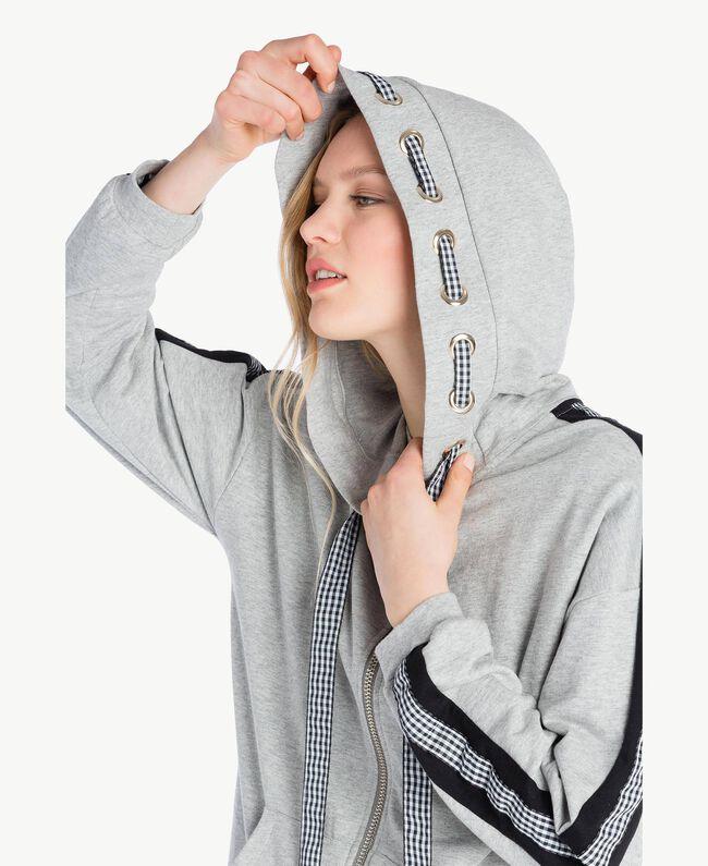 Gingham sweatshirt Melange Grey Woman JS82H3-04