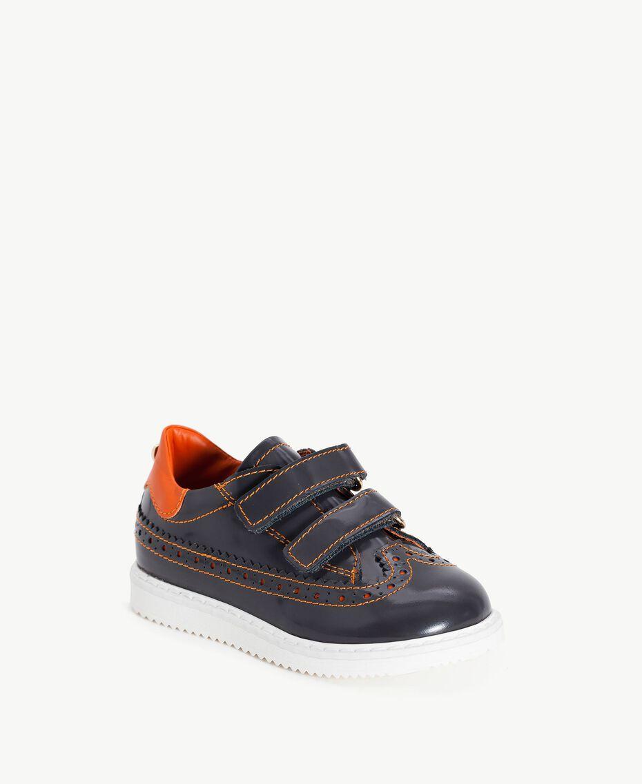 Leather lace-up shoes Lava Grey / Orange Female HA76A3-02