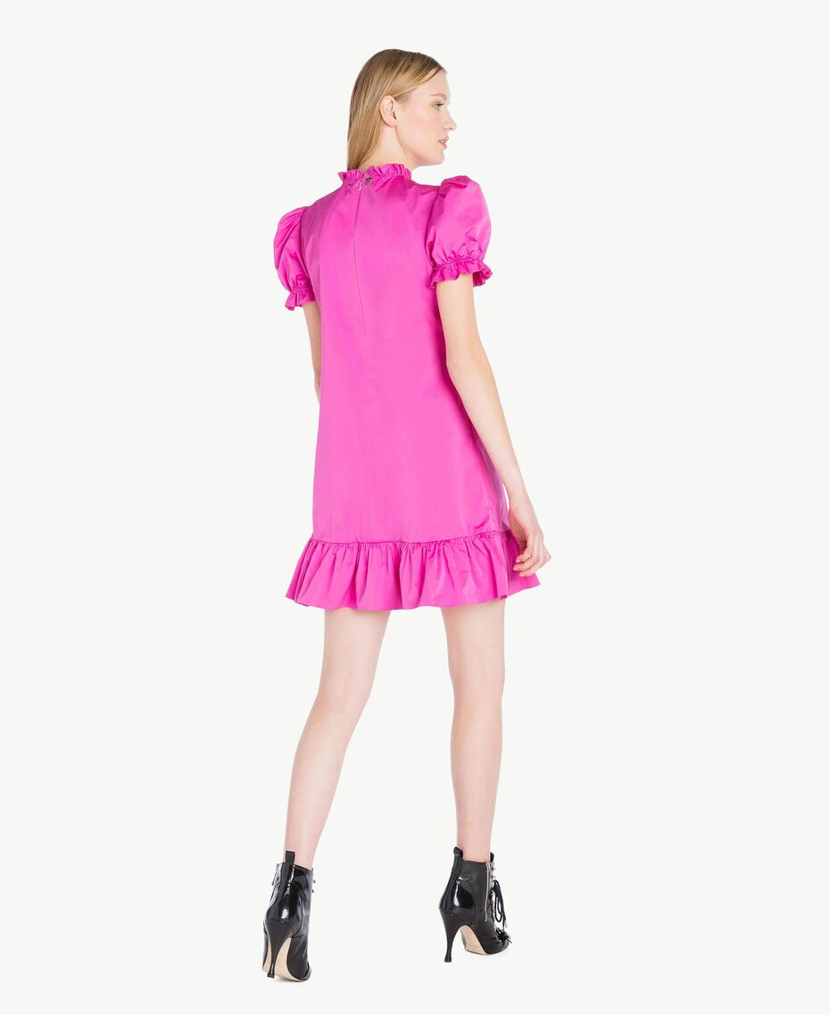 Kleid aus technischem Gewebe Pink Frau PS82J2-03