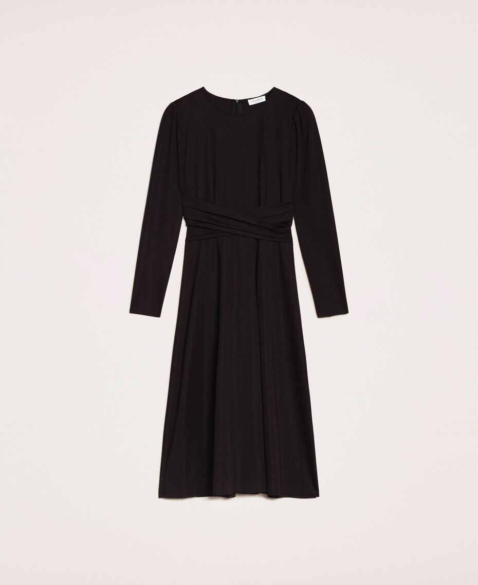 Robe stretch avec ceinture Noir Femme 201ST2141-0S
