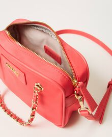 Technical satin shoulder bag Neon Pink Woman 211TD8100-05