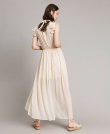 "Crepon long dress ""Milkway"" Beige Woman 191LB21HH-04"