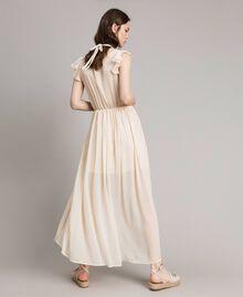 """Robe longue en crépon Beige """"Voie Lactée"""" Femme 191LB21HH-04"""