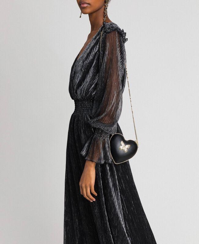 Сумка-пошет из искусственной кожи со стразами Черный женщина 192TO8030-0S