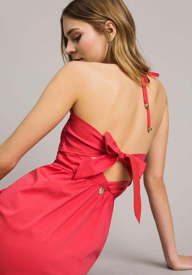 Poplin long dress