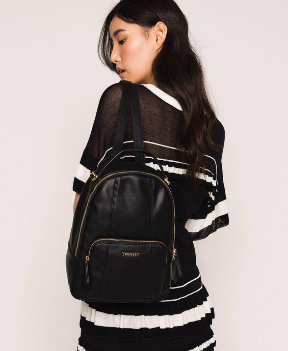Рюкзак из искусственной кожи с карманом