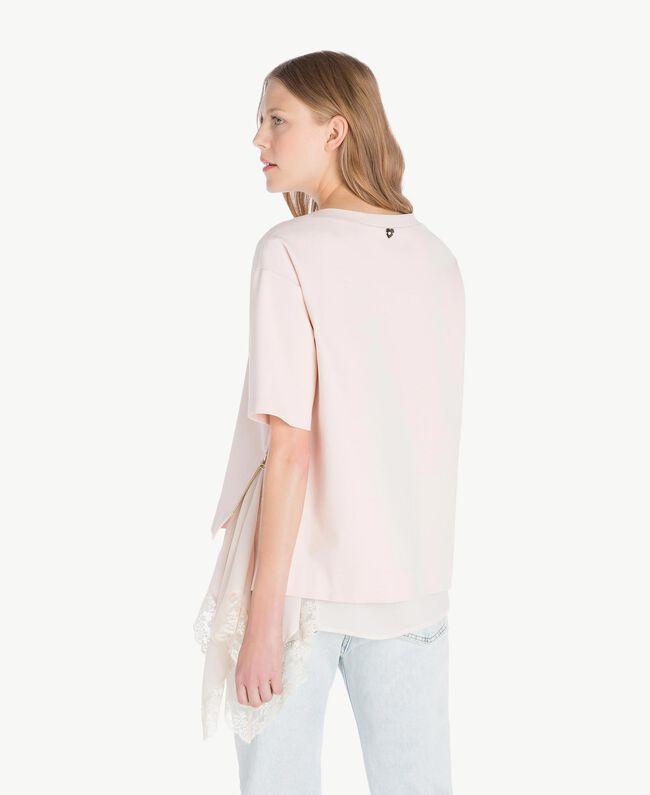 Lace blouse Pale Ecru Woman PS828Q-03