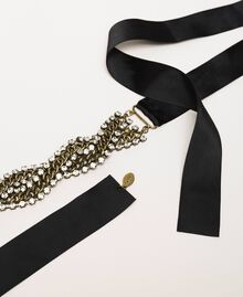 Chain torchon choker with rhinestones Crystal Woman 201TA4312-02