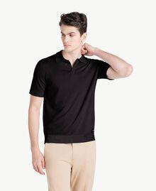 Pullover aus Baumwolle und Kaschmir Schwarz Mann US831C-01