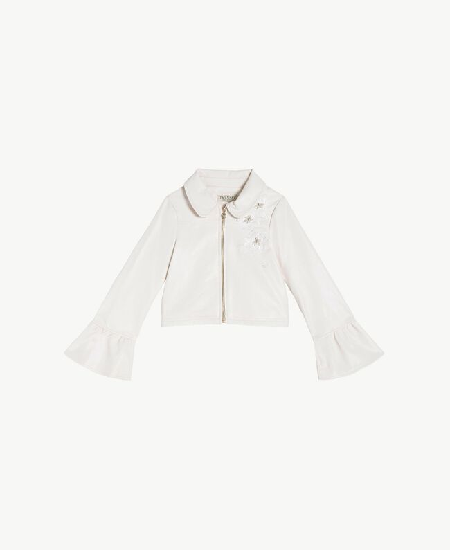 Embroidered jacket Pale Cream Child GS8LFN-01