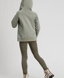 Sweat avec imprimé et logo Imprimé Brocart Or / Vert Alpin Enfant 192GJ2444-03