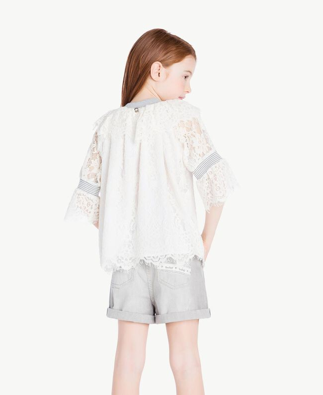 Lace blouse Pale Cream Child GS82UR-04