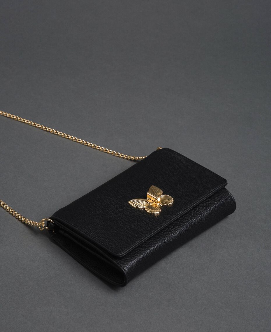 Small shoulder bag with butterfly shaped turn lock Mousse Pink Woman 192TA7022-02