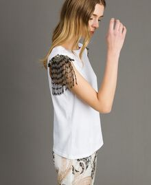 Tank top with sequin and bead embroidery White Woman 191TT2350-02
