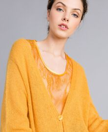 Cardigan in mohair con top in pizzo Brandy Donna PA836D-04