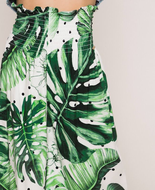 Printed trousers Green Polka Dot Tropical Print Child 201GJ2304-04
