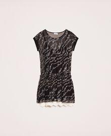 Платье из тюля с вышивкой логотипа Черный женщина 201ST2041-0S