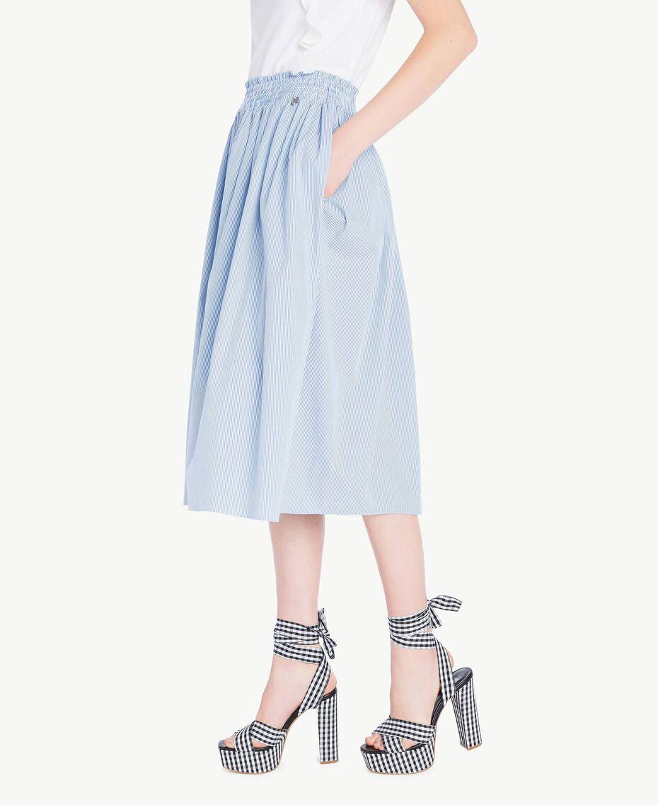 Mid-length skirt Multicolour Topaz Light Blue Pin Stripes Woman JS82DT-02