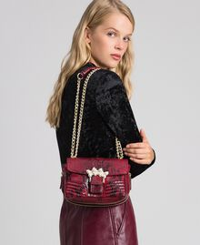 Small Rebel shoulder bag with python print Beet Red Python Print Woman 192TO7231-0S