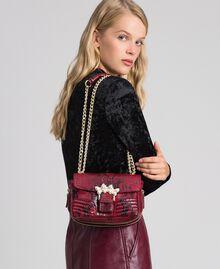 Маленькая сумка через плечо Rebel с питоновым принтом Питоновый Принт Красная Свекла женщина 192TO7231-0S