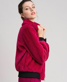 Faux fur bomber jacket Red Amaranth Woman 192MP2042-05