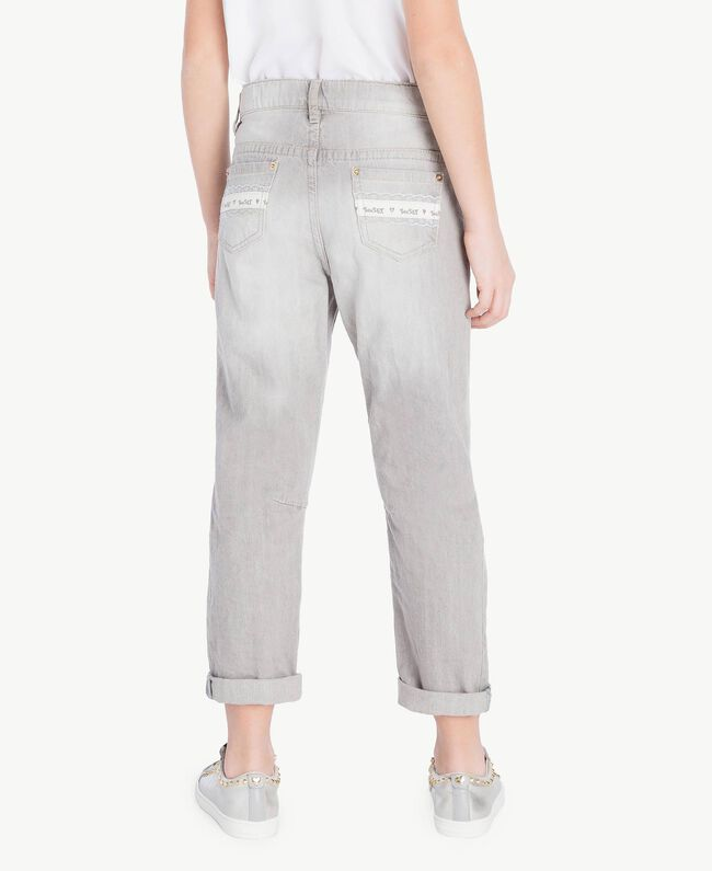 Slouchy jeans Light Grey Denim Child GS82FP-04