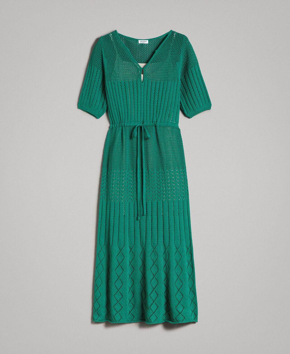 Maxikleid mit Durchbruchmuster Grün Garden Frau 191ST3031-0S