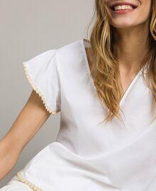 Poplin T-shirt White Woman 191LB2JDD-04