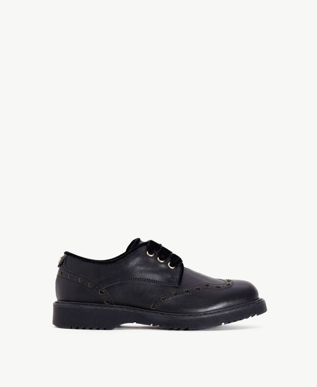 Nappa leather lace-up shoes Black HA78AS-01