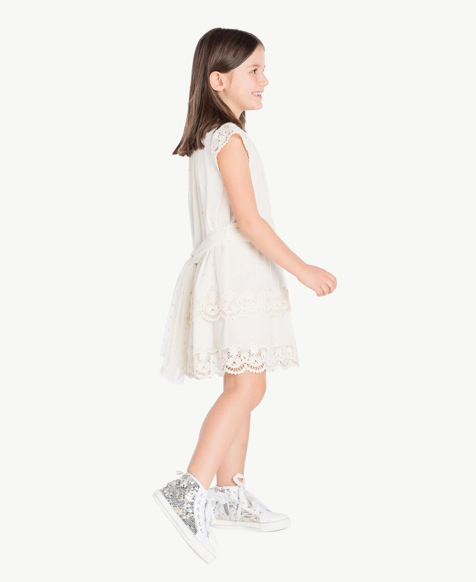 Robe dentelle Chantilly Enfant GS8LAN-03