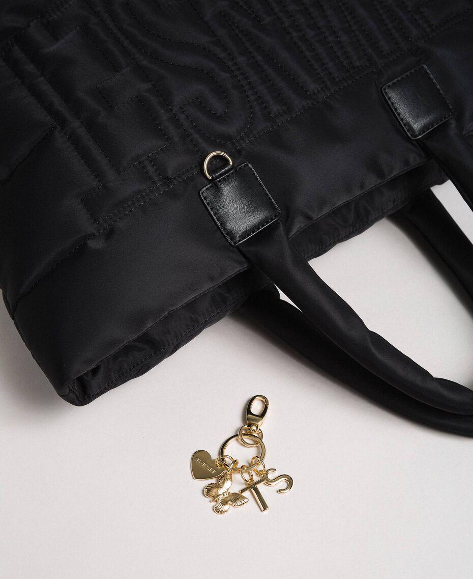 Sac cabas matelassé avec charms Noir Femme 192TO8060-02