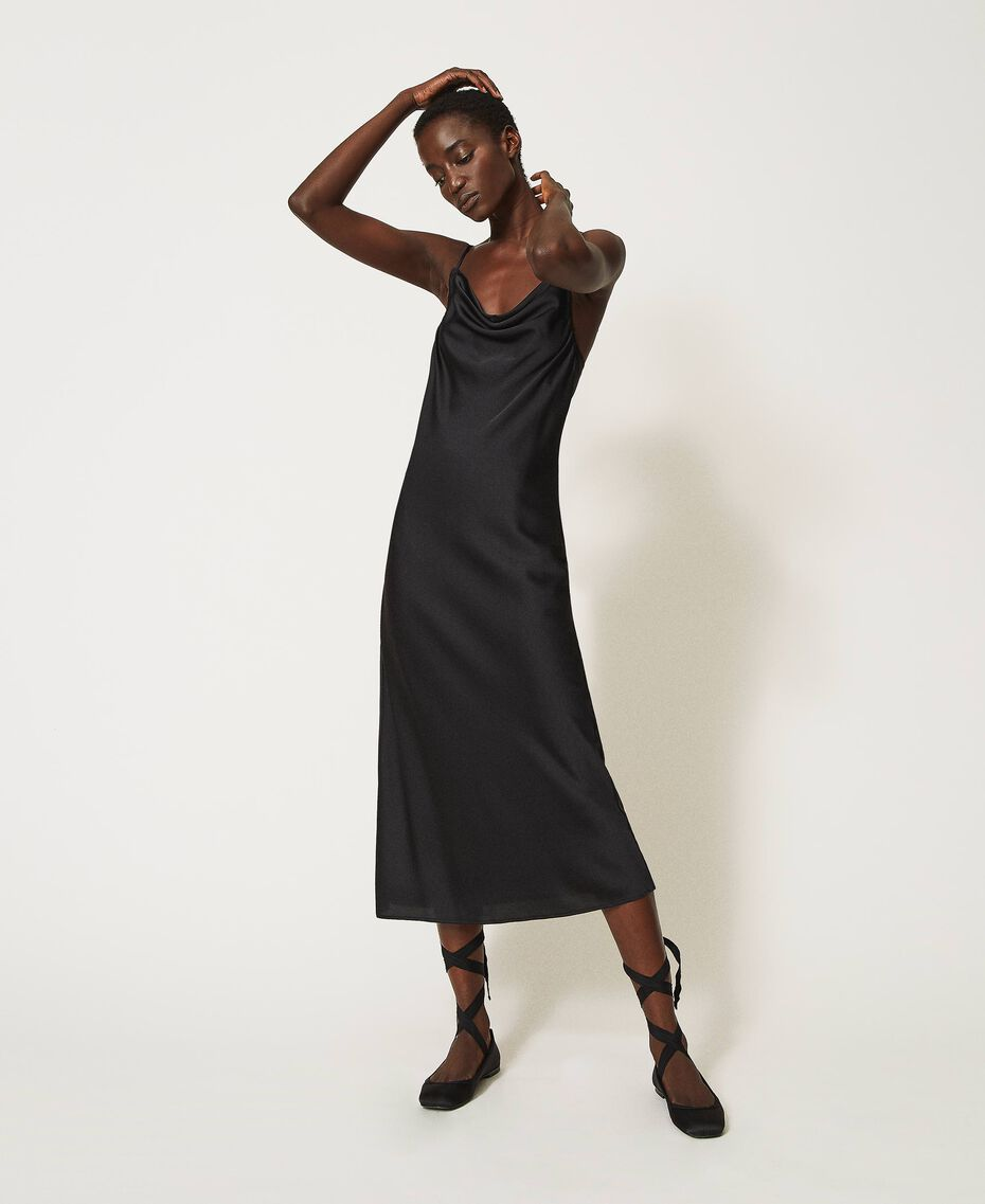 "Satin slip dress ""Nude"" Beige Woman 202MP2371-01"