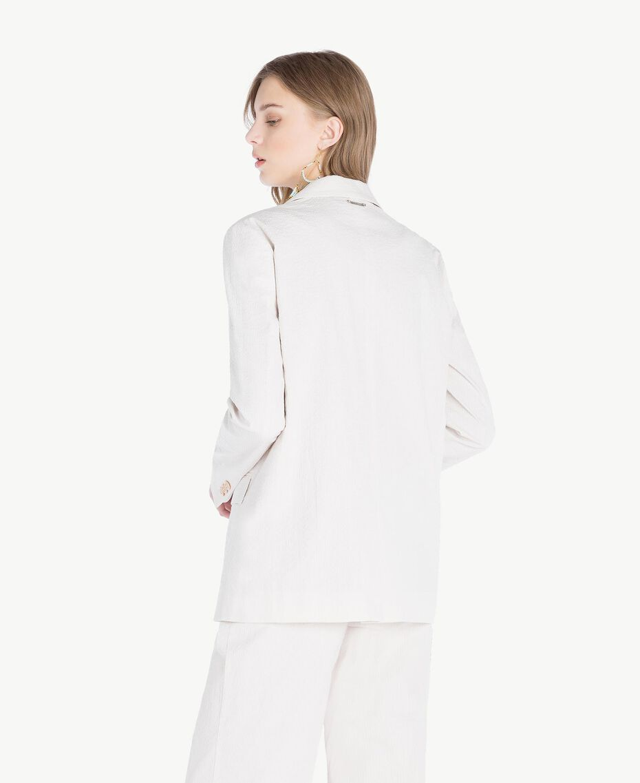 "Cotton jacket Light ""Dune"" Beige Stripes Woman TS82Z1-03"