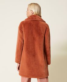 """Single breasted coat with pockets """"Tan Powder"""" Brown Woman 212TP2230-04"""